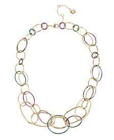 Two-Tone Link Statement Necklace