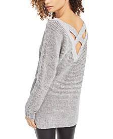 Crisscross-Back Tunic Sweater, Created for Macy's