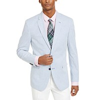 Tommy Hilfiger Mens Modern-Fit Stretch Stripe Sport Coat
