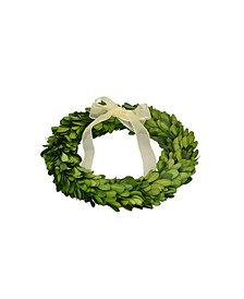 "8"" D Boxwood Wreath With Ribbon - Set of 3"