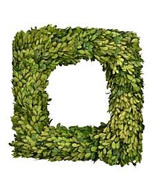 "16"" Square Preserved Boxwood Wreath"