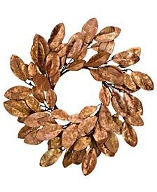 """20"""" D Gilded Magnolia Wreath"""
