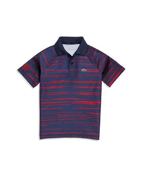 Lacoste Little And Big Boys Sport Novak Djokovic Striped Polo Shirt Reviews Shirts Tops Kids Macy S