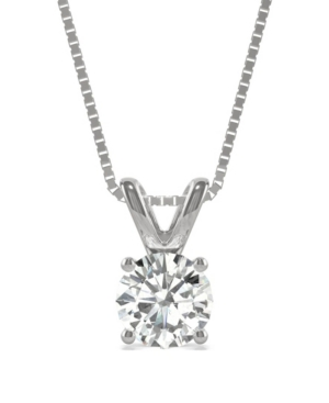 Moissanite Solitaire Pendant 1 ct. t.w. Diamond Equivalent in 14k White or Yellow Gold