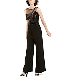 Illusion Sequin Jumpsuit
