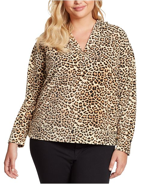 Jessica Simpson Trendy Plus Size Beckett Raglan Hoodie