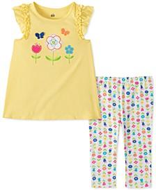 Little Girls 2-Pc. Flower Surprise Tunic & Leggings Set