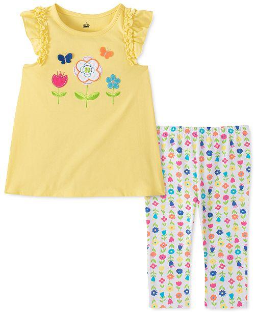Kids Headquarters Little Girls 2-Pc. Flower Surprise Tunic & Leggings Set