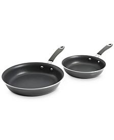 "Nonstick Aluminum 9"" & 11"" Fry Pan Set"