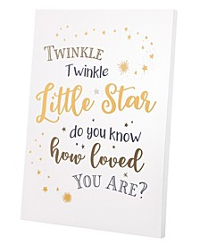 Lillian Rose Twinkle Twinkle Canvas Baby Nursery Sign