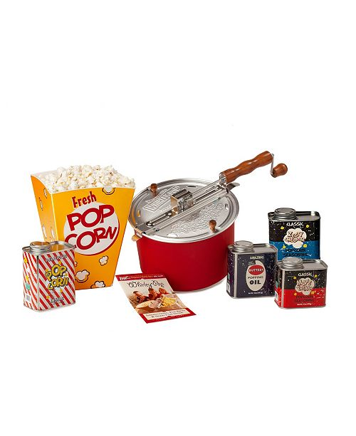 Wabash Family Farms Wabash Valley Farms Original Whirley-Pop with Metal Tin Collection