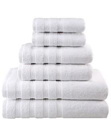 Premium, Luxury Hotel Spa Quality, for Kitchen and Bathroom, 6 Piece %100 Turkish Cotton Towel Set