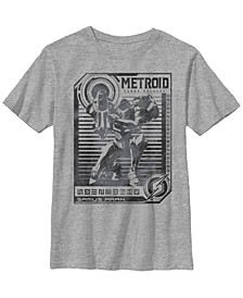 Nintendo Big Boy's Metroid Samus Distressed Poster Short Sleeve T-Shirt