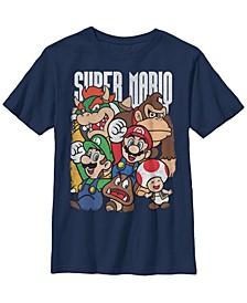 Nintendo Big Boy's Super Mario Character Compilation Short Sleeve T-Shirt