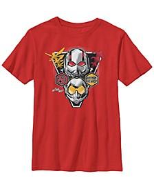 Marvel Big Boy's Ant-Man The Wasp Triangular Badge Short Sleeve T-Shirt