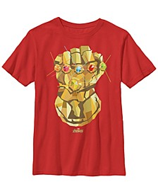 Marvel Big Boy's Infinity War Low Poly Gauntlet Short Sleeve T-Shirt