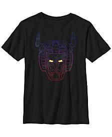 Voltron Big Boy's Legendary Defender Neon Color Fade Short Sleeve T-Shirt