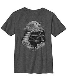 Star Wars Big Boy's Darth Vader Build The Empire Short Sleeve T-Shirt
