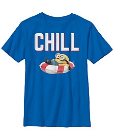 Despicable Me Big Boy's Minions Bob Chillaxin In Tube Short Sleeve T-Shirt
