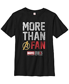 Marvel Big Boy's Studios More Than A Fan Short Sleeve T-Shirt