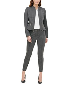 Zippered Jacket & Seam-Front Pants