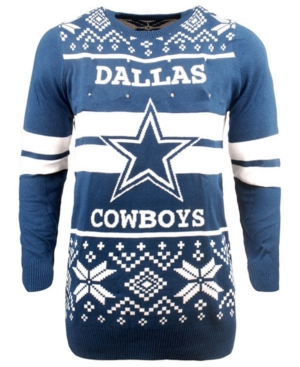 Forever Collectibles Men's Dallas Cowboys Two Stripe Big Logo Lightup Sweater