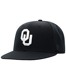 Oklahoma Sooners Black White Core Fitted Cap