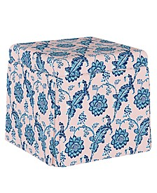Lily Pond Collection Skirted Storage Ottoman