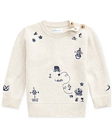 Baby Boys Embroidered Long-Sleeve Top