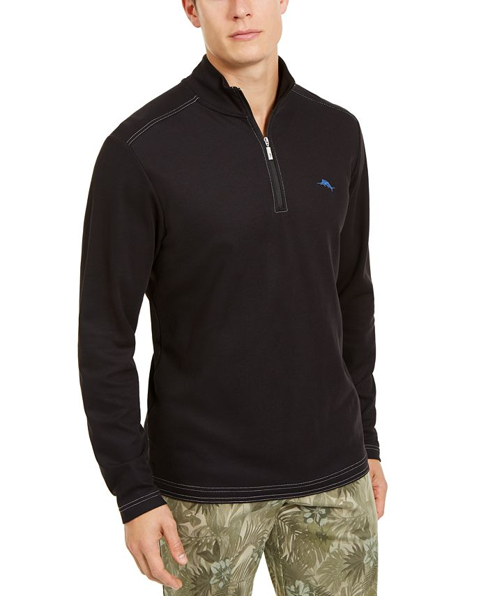 Tommy Bahama - Men's Emfielder 2.0 Classic-Fit Moisture-Wicking 1/2-Zip Polo Shirt