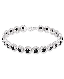 Round Black Onyx (22 mm) Bracelet in Sterling Silver