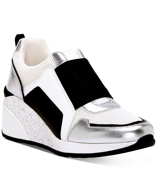 INC International Concepts INC Women's Heily Stretch Wedge Sneakers, Created for Macy's