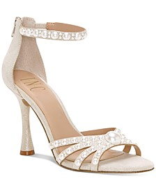 INC Women's Riolana Pearl Evening Sandals, Created For Macy's