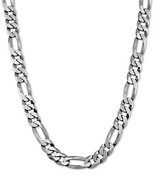 "Figaro Link 26"" Chain Necklace in Sterling Silver"