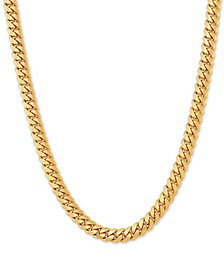"Cuban Link 24"" Chain Necklace in 18k Gold-Plated Sterling Silver"