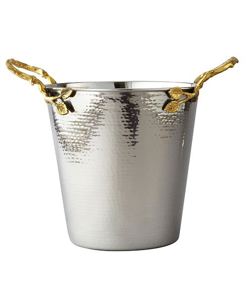 Leeber Gold tone Vine Hammered Stainless Steel Wine Bucket