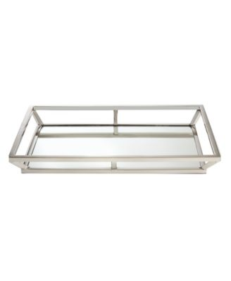 Large Beam Stainless Steel Mirrored Tray
