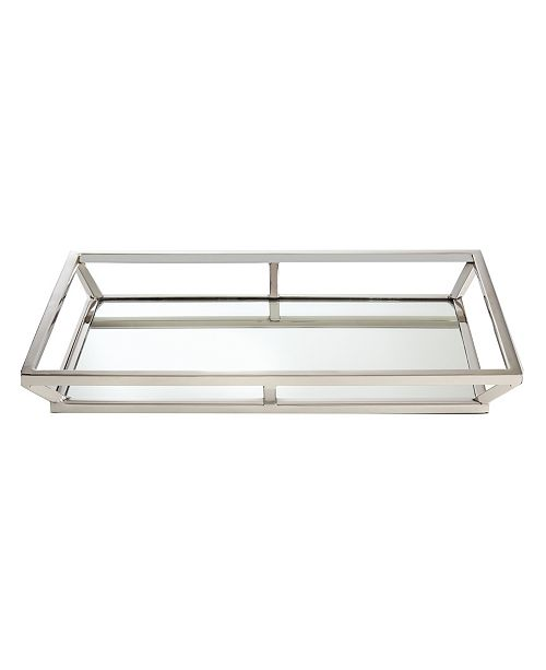 Leeber Large Beam Stainless Steel Mirrored Tray