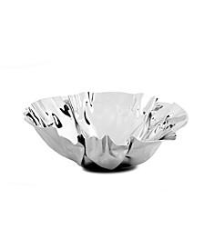 "12.5"" Round Stainless Steel Wavy Design Serving Bowl"