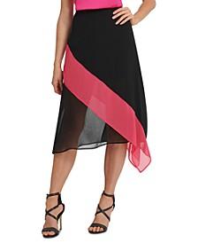 Colorblocked Asymmetrical Skirt