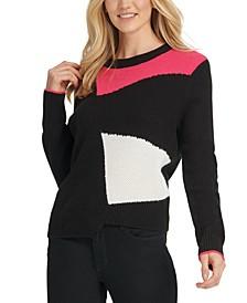 DYNY Asymmetrical Colorblocked Sweater