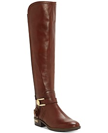 Pearly Wide-Calf Riding Boots