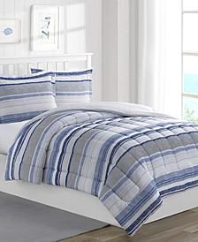 Chase Stripe 3-Piece Reversible Full Comforter Set