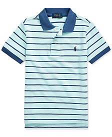 Toddler Boys Striped Cotton Mesh Polo Shirt