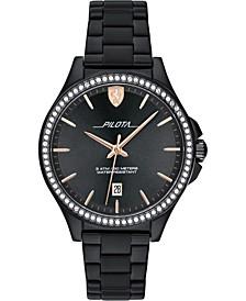 Women's Pilota Black Stainless Steel Bracelet Watch 38mm