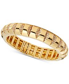 Gold-Tone Pavé Stretch Bracelet