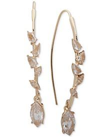 Gold-Tone Crystal Threader Earrings