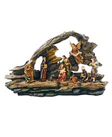 9-inch Nativity Grotto Scene LED Table piece