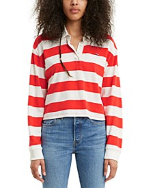 Cropped Cotton Rugby Top