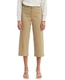 Classic Utility Wide-Leg Cropped Jeans